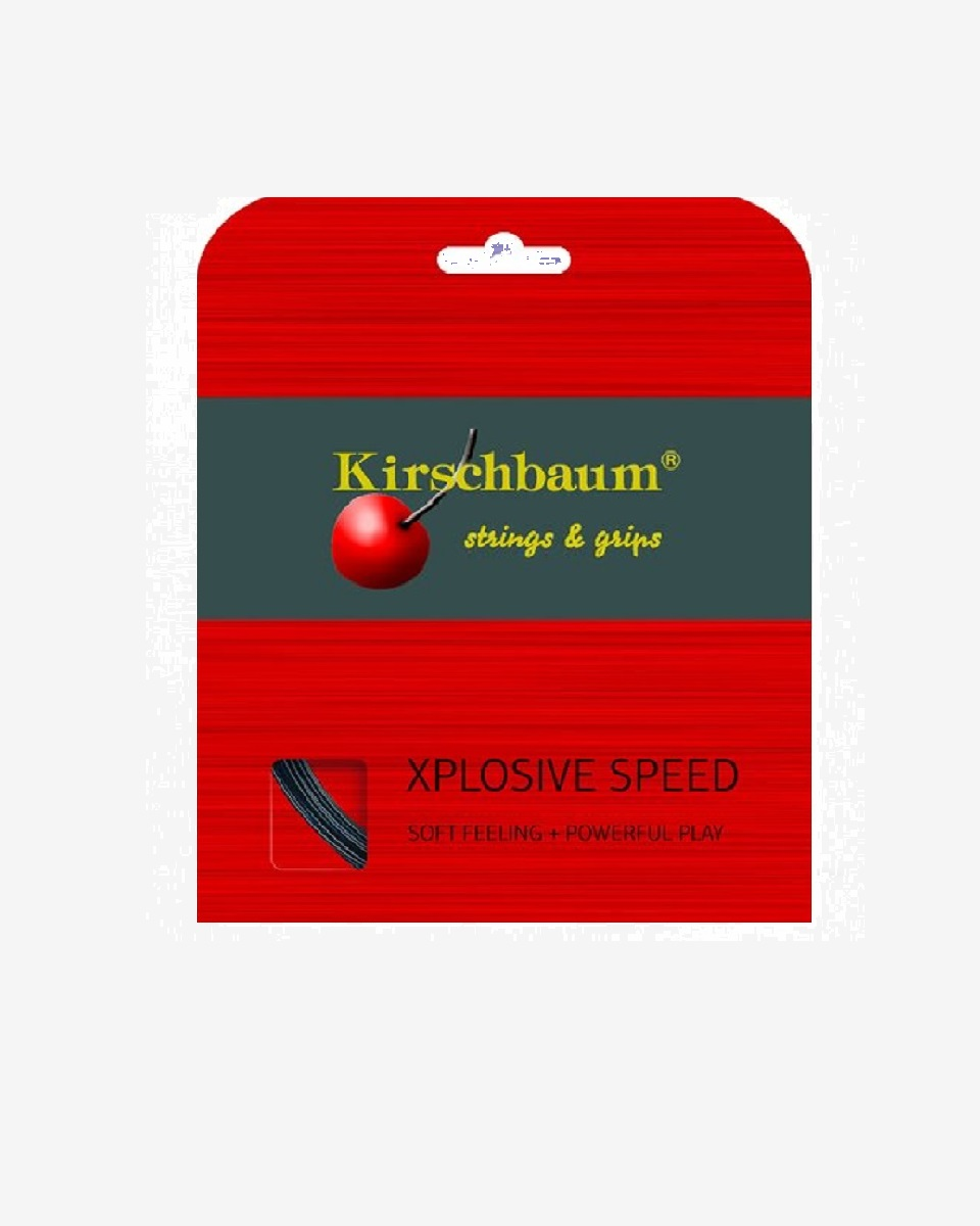 KİRSCHBAUM - Kirschbaum Xplosive Speed Black Tekli Kordaj 12mt