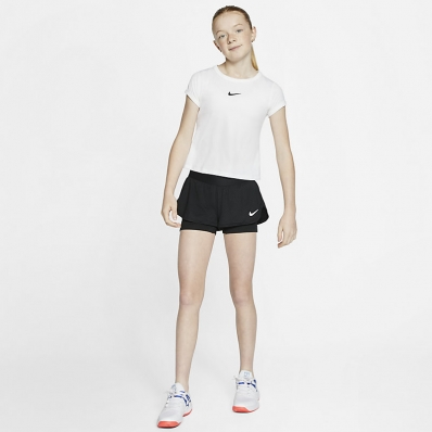 Nike - Nike Court Flex Şort Siyah