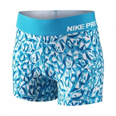 NIKE - Nike Pro Cool Allover Kız Çocuk Tayt-Mavi