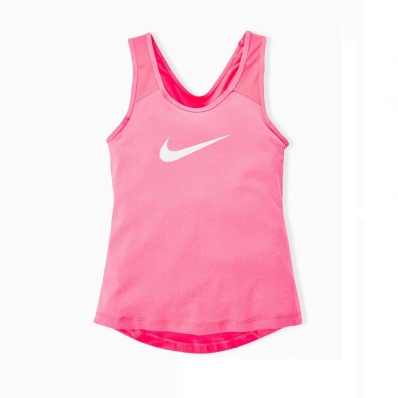 NIKE - Nike Pro Cool Kız Çocuk Tank-Pembe