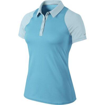NIKE - Nike Sphere Ss Polo Kadın T-Shirt Mavi