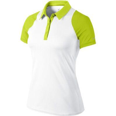 NIKE - Nike Sphere Ss Polo Kadın T-Shirt Yeşil