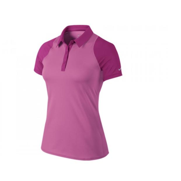 NIKE - Nike Sphere Ss Polo Kadın T-Shirt Pembe